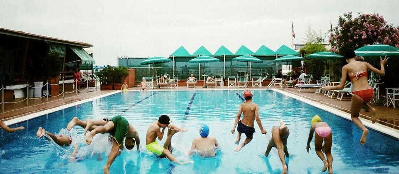 Jumpshot Jumping Summersplash Summer Ending Swimming Time Swimming Pool Hello World Eyeemphoto