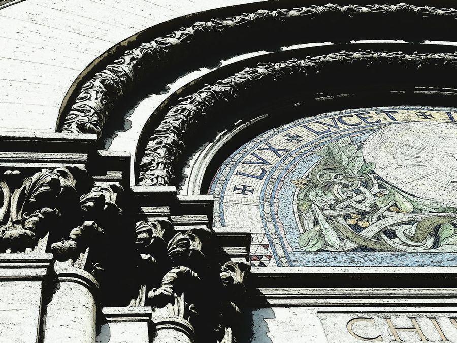 Piazza Cavour Roma Chiesa Valdese Geometrie Urbane Urban Geometry Streetphotography Mosaic Tiles Flowers Capitello Decoration