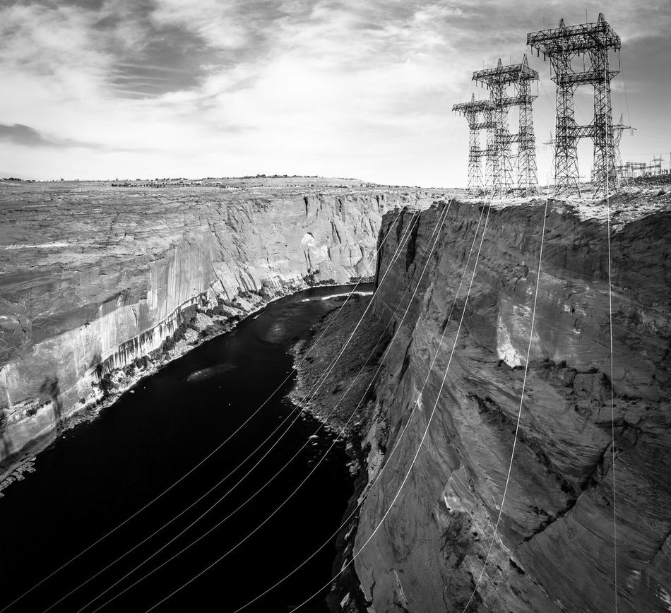 Water power Colorado River Lake Powell Edge Of The World Fortheloveofblackandwhite Landscape Electric Lines Power Station EyeEm Best Shots Industrial Landscapes Don't Jump How Do We Build The World? Kiomi Collection The Great Outdoors With Adobe