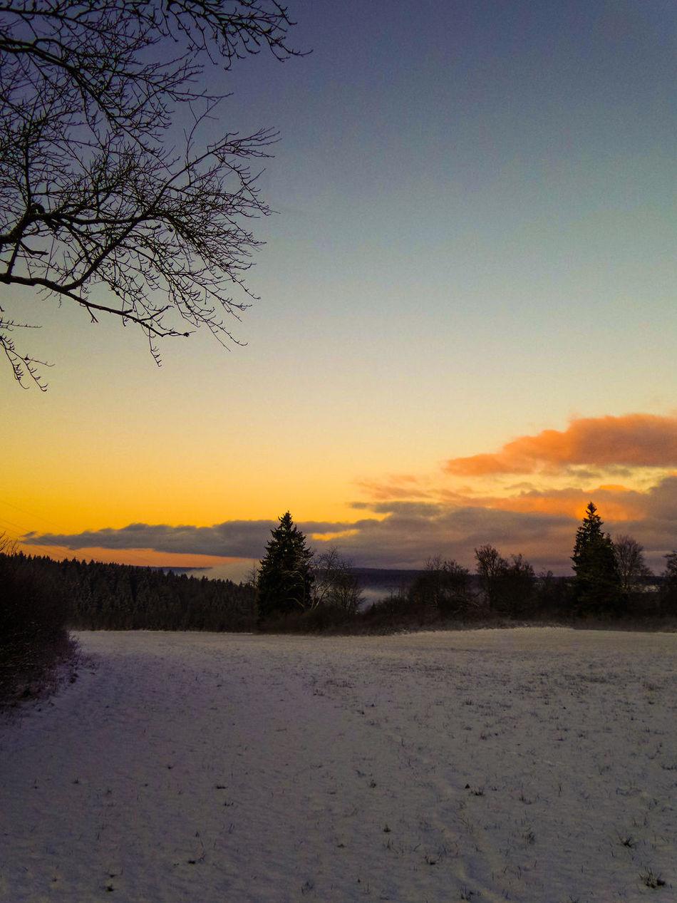 Snow Nature Sunrise Silhouette Sunrise_Collection Nature_collection Sky_collection No People
