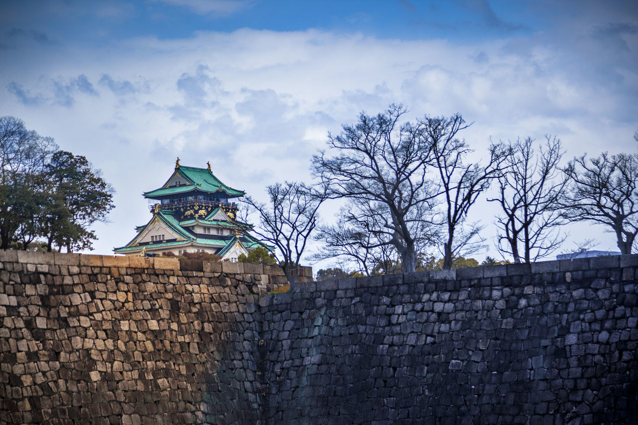 Ultimate Japan Blue Built Structure Castle Cloud - Sky Famous Tourist Attractions History History Architecture Japan Nature OSAKA Osaka Castle Outdoors Relic Sky The Past Tourism Tranquility Travel Destinations Tree Ultimate Japan Ancient Architecture Architecture Cloud Stone Material The City Walls