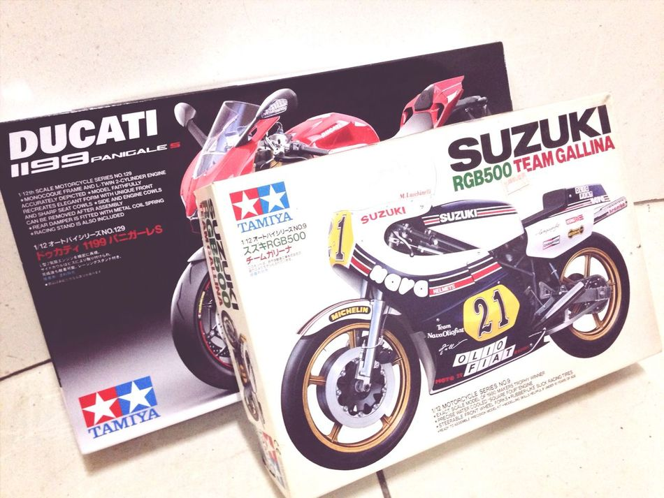 Have a little practice before doing the panigale Motorcyclesmotorcycles Tamiya Model