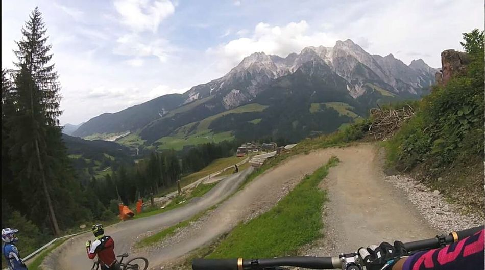 Gopro Ride Bikepark Mountain Transportation Agriculture Adventure Landscape Outdoors Nature Day People Sky Scenics Adult