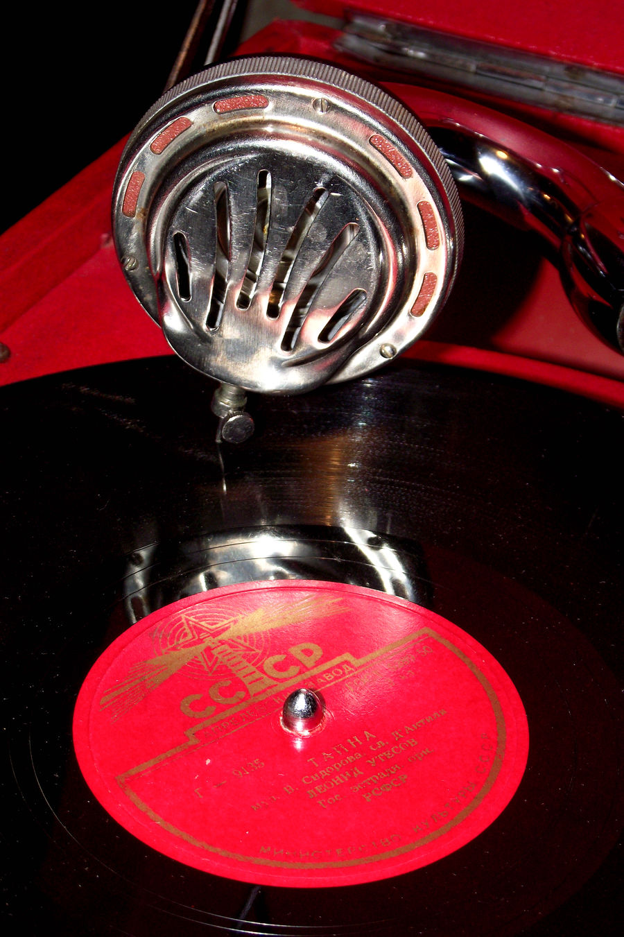 Close-up Grammaphone Indoors  Music No People Old Red Vinyl Close Up Technology Welcome To Black EyeEm Selects