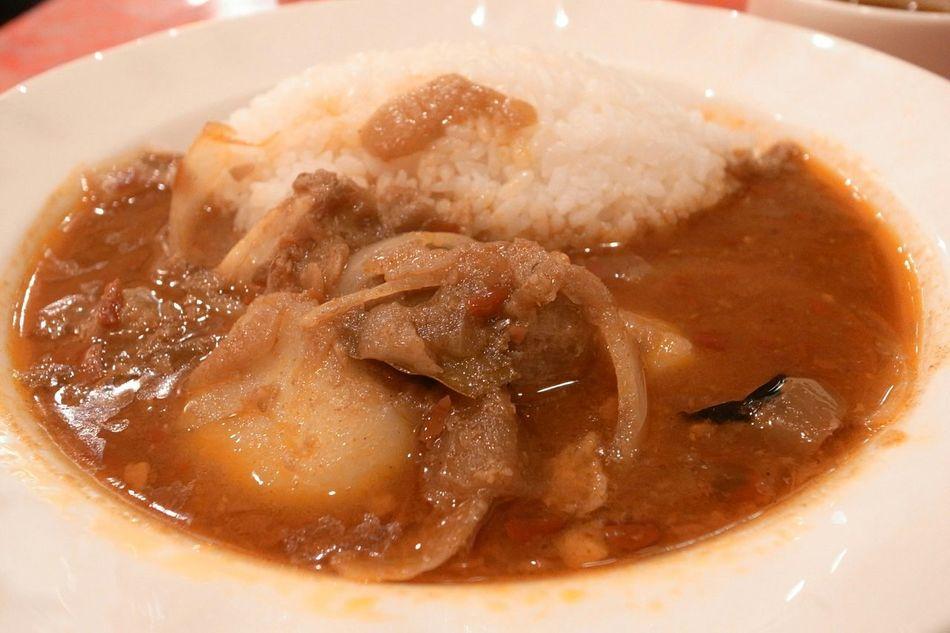 Indian Food Curry Pork Yummy Delicious Food Porn Enjoying A Meal In My Mouf Food 前の画像…インド風ポークカレー、辛い、美味い!