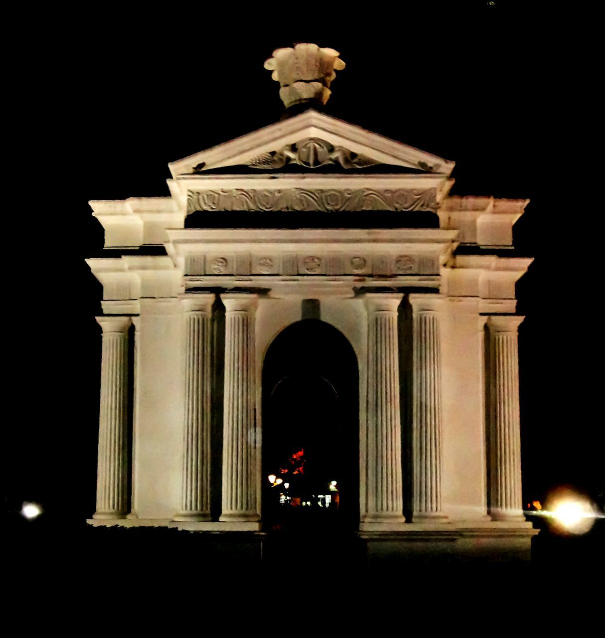 Illuminated Monument At Night