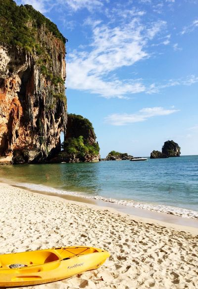 Thailand Rayavadee Thailand Beach Sand Canoe Feelfree