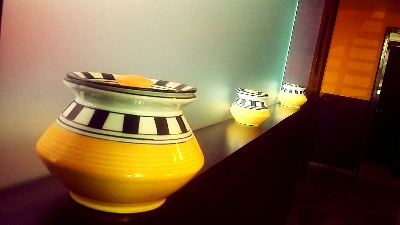 Q Curios in a Queue Showcase March Yellow Beauty Pots Art In Ceramic pastel power
