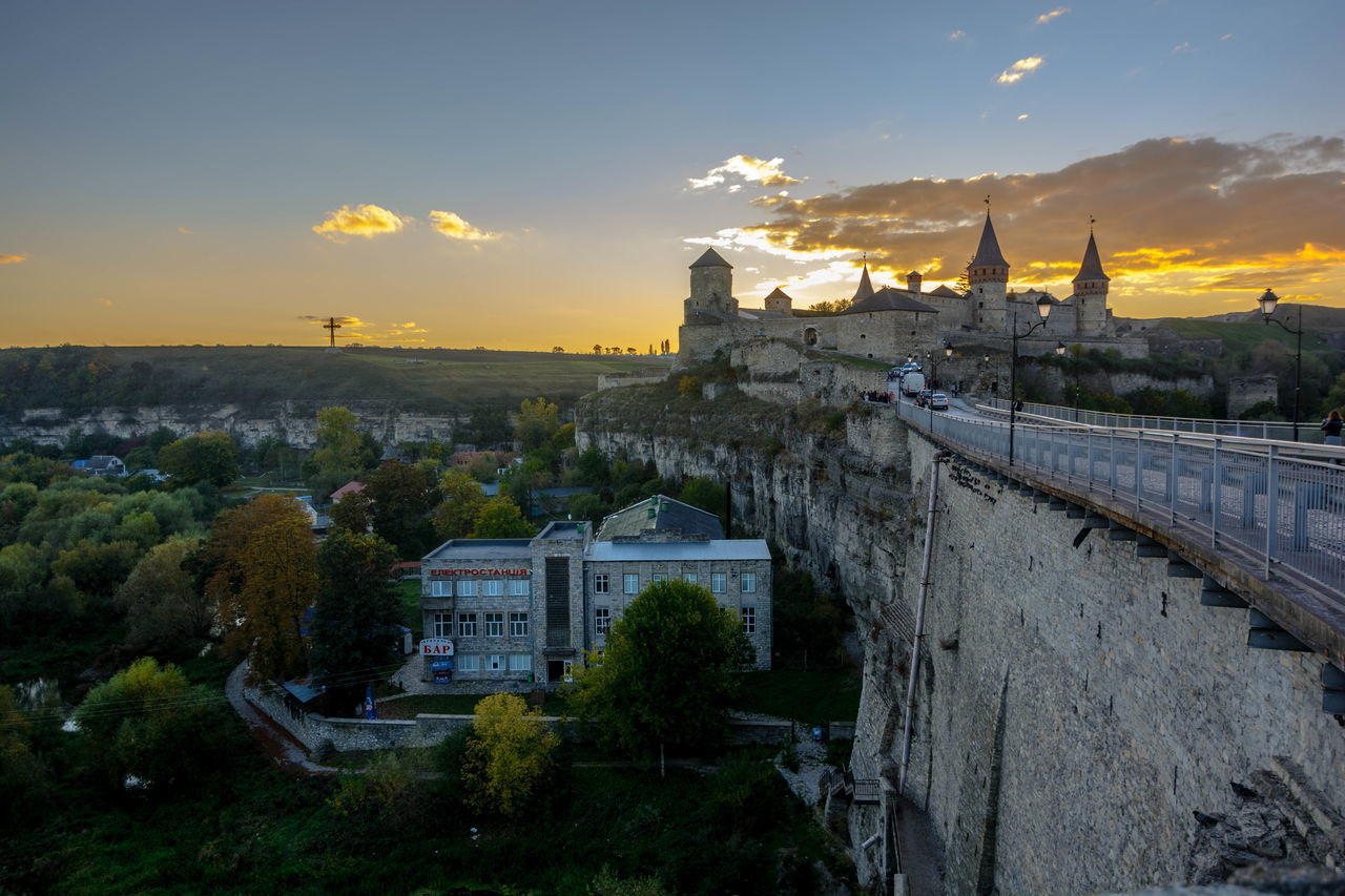 Architecture City Cityscape Fortress Fortress Europe Fortress In Europe Fortress View Kamianets-Podilskyi Outdoors Sunset Tourism Tourist Tourist Attraction  Travel Travel Destinations Ukraine Ukraine 💙💛