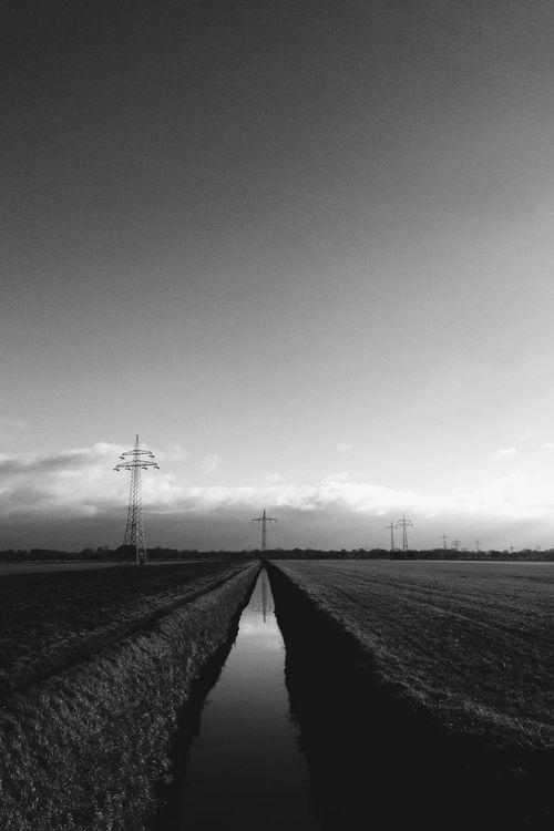 Cross Electricity Pylon Iphone5C Landscape Nature Reflection Sky VSCO