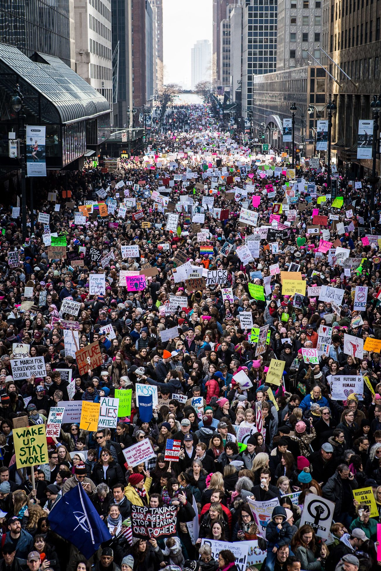 Womensmarch March Protest Crowd Trump