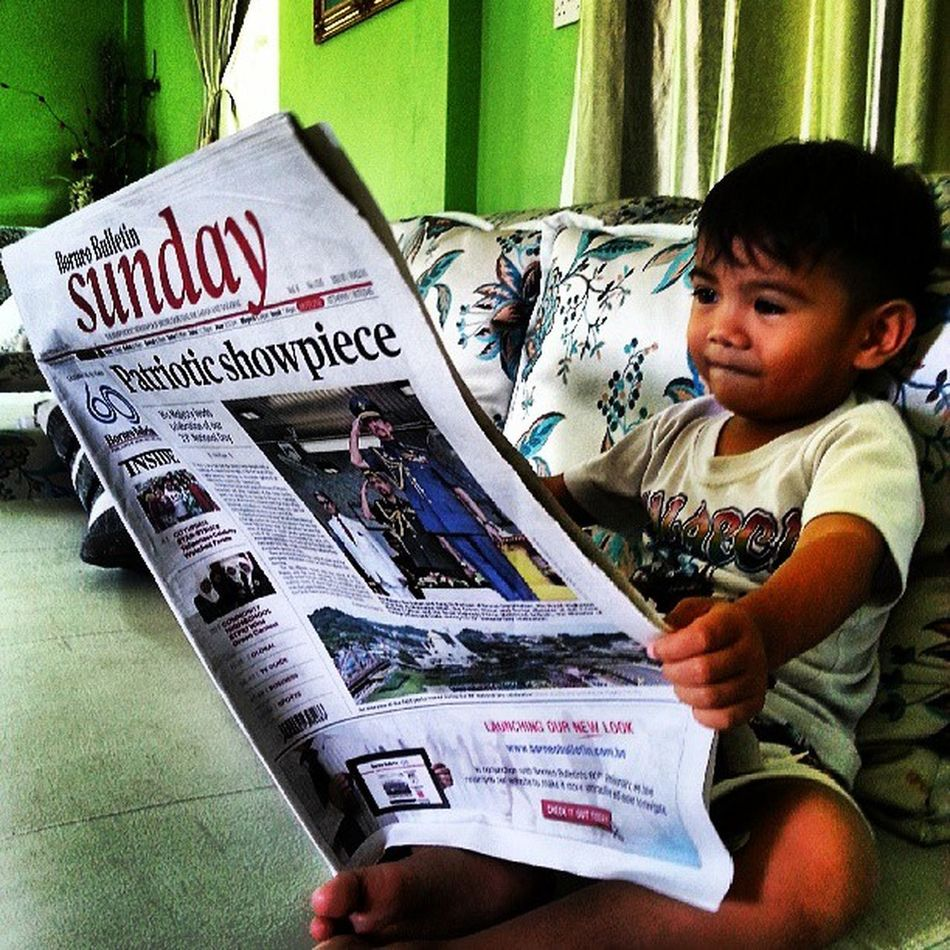 Lil boy readin Sunday BB. Borneobulletin_60 Babyfruit Bbcollection Qimi The Photojournalist - 2016 EyeEm Awards The Potraitist - 2016 EyeEm Awards