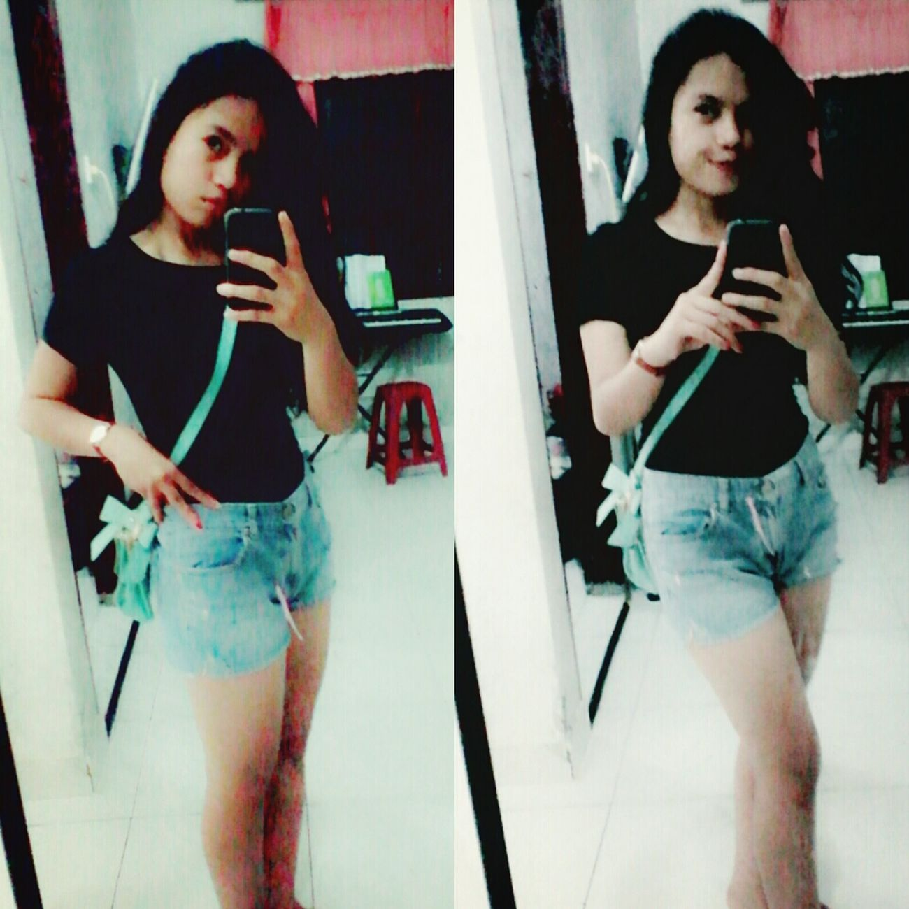 The good time Mirrorselfie Lifeissoshortjustenjoy ♥ Blackshirt