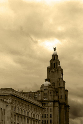 Architectural Feature Architecture Built Structure Famous Place Liver Building Liverpool Liverpool Docks Liverpool, England Travel Destinations Building Exterior Tourist Attraction  Famous Landmarks Travel Destination Modern Vs Old EyeEm Best Shots - Landscape EyeEm Best Shots - Architecture Sepia_collection Sepia Photography Liverpool England Liver Bird Liver Building's Liverpool Liverpoolarchitecture Liver Birds Liverbuilding  Liverbird