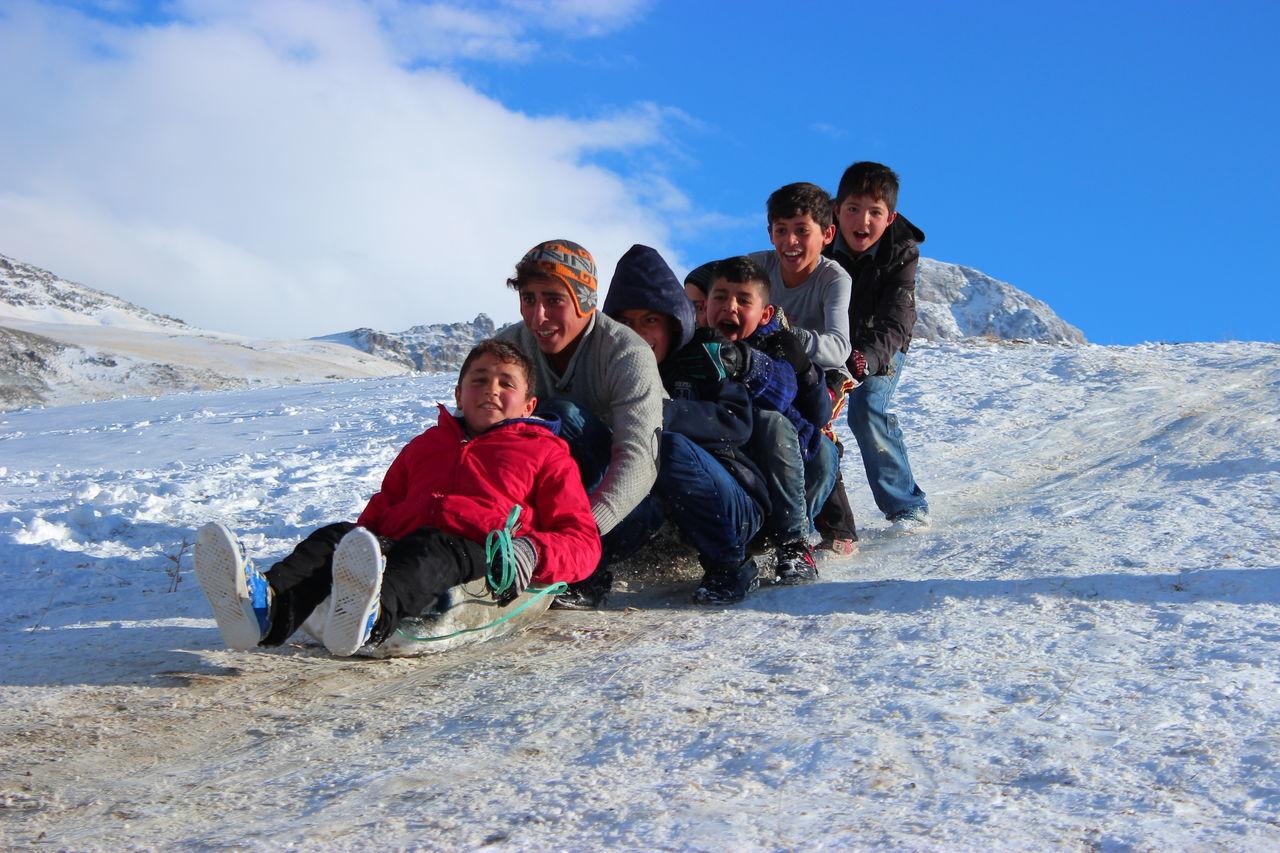 Loving Children Snow ❄ Snow Day Winter Child Cold Temperature Childhood Happiness Friendship Winter Wonderland Winter