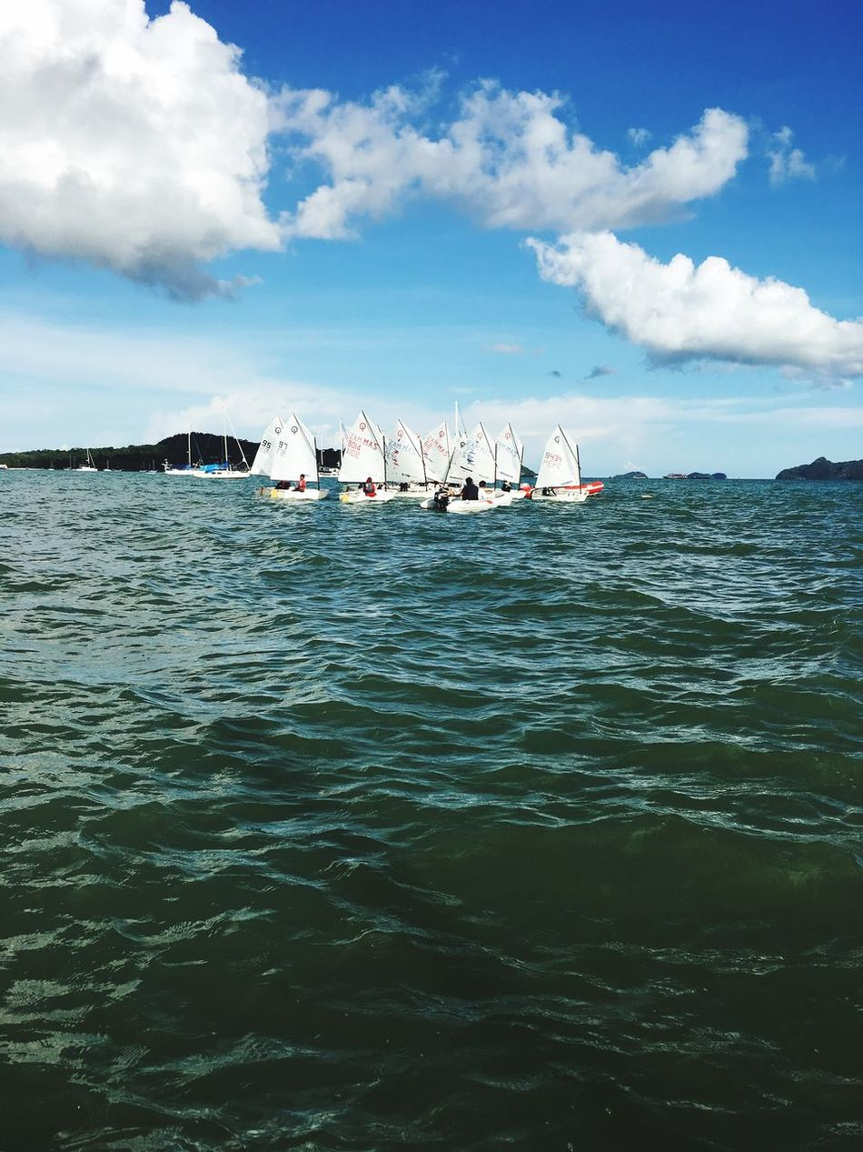 Let your dream set sail... The Journey Is The Destination Sailing Sailing Ship Langkawi View Beach Holiday Bestmoment Travellerslife Traveller ILoveMyself Capture The Moment Sea Sky - in Langkawi
