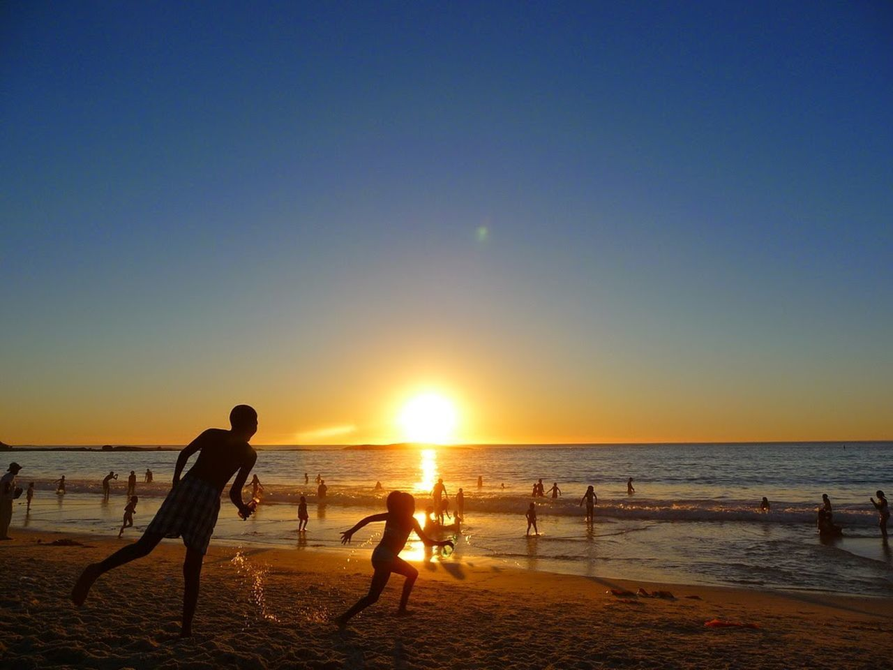 Südafrika Sunset Beach Water Summer Cape Town 2009 Sun People First Eyeem Photo