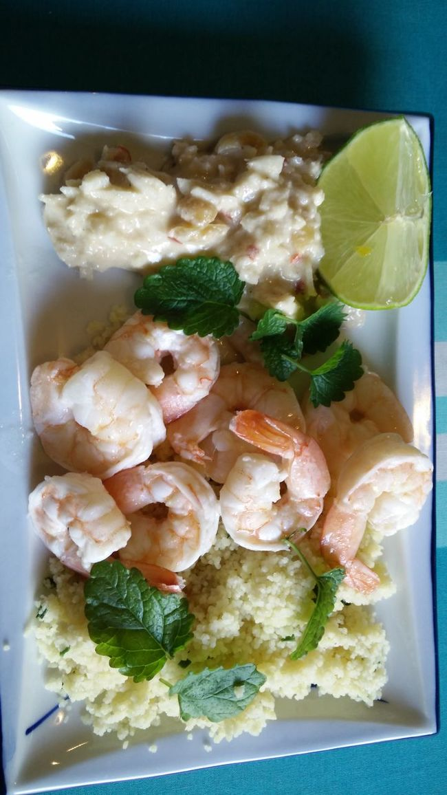 Prawns in coconut sauce and couscous by myself Food Porn
