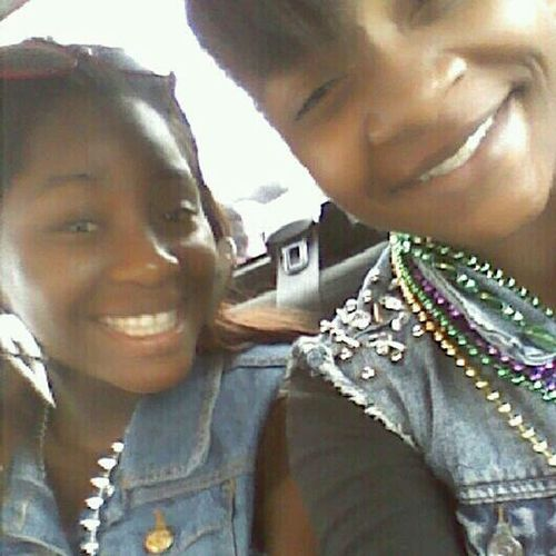 Me N Alexis At Da Parade In Port Allen! Now Headed To Brusly!