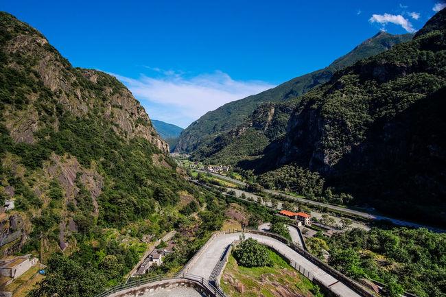 Forte di Bard Aosta Aosta Valley Beauty In Nature Mountain Mountain Range Rocky Mountains Scenics Sky Valle D'aosta