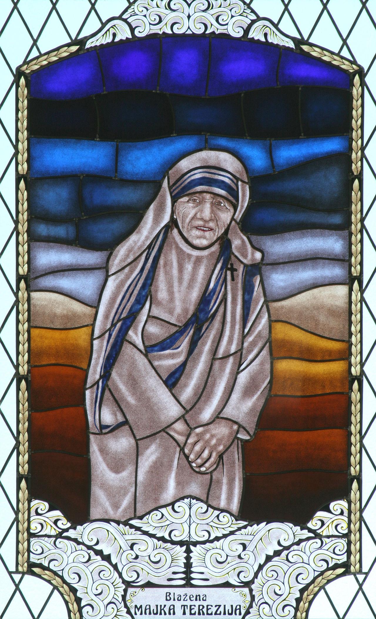 Saint Mother Teresa Belief Christianity Church Croatia Faith Holy Mother Mother Teresa Religion Religious  Saint Spirituality Stained Glass Teresa Window Windowpane Worship