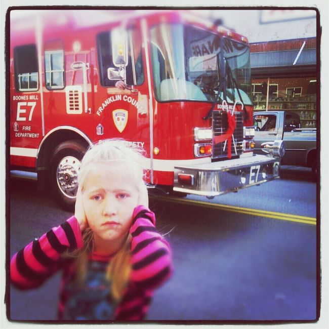 Too Loud Firetruck At The Parade Kid's