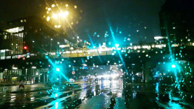 Hamburg Harbour Film Noir City Scene City Lights Hamburg Rainy Days Rainy Night Windshield Rain Wind Shield Green Lights Green Light