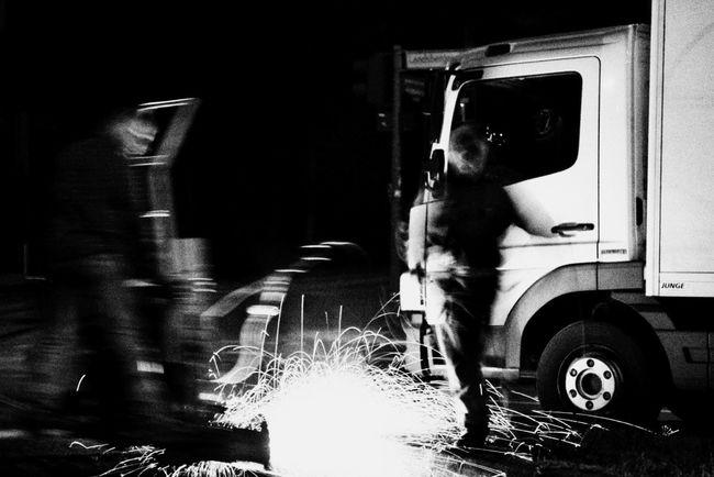 Men at Work / Berlin / I Love My City Berlin My Fuckin Berlin Capture The Moment Glitch Fire Long Exposure Blackandwhite Streetphotography Streetphoto_bw Whatever It Takes