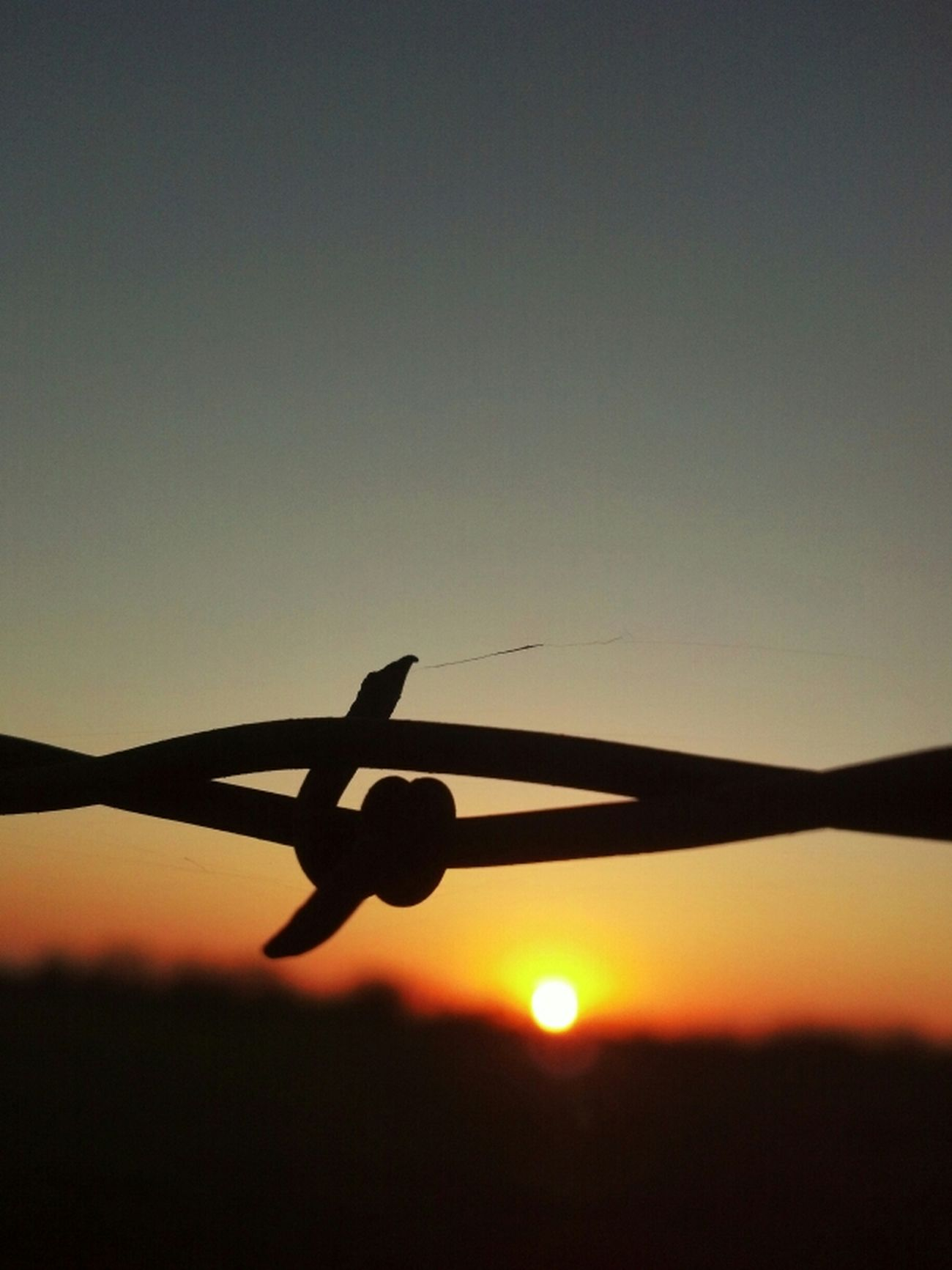 Sunset Texas Sky Barbed Wire Wednesday Razorsharpsky