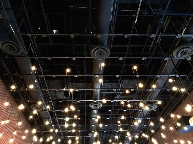 Looking Up Light Light And Shadow Cities At Night The Architect - 2016 EyeEm Awards Architecture_collection Design Repetition Pattern Lighting Equipment Ceiling Ceiling Lights Ceiling Design Open Symmetry No People Illuminated Lighting Abstract Engineering Decor
