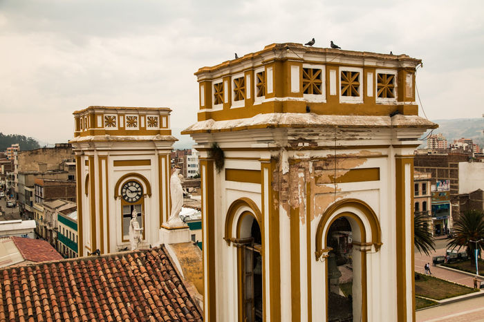 Arch Architecture City Clock Clock Face Day History Left Behind No People Outdoors Roof Top Ruined Sky Sogamoso Tourism Travel Destinations