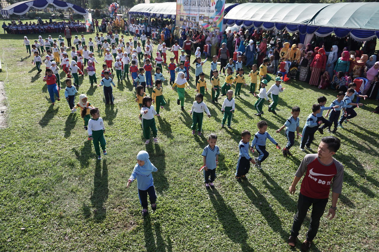 Beautifully Organized Crowd Grass Large Group Of People Leisure Activity Outdoors People Real People