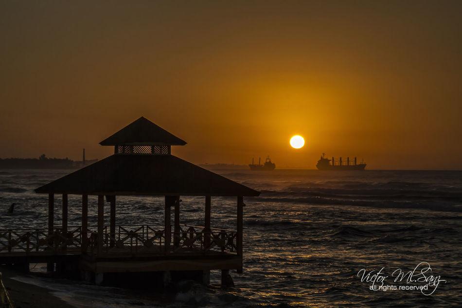 Beach Day Horizon Over Water Scenics Sea Silhouette Sun Sunset Water