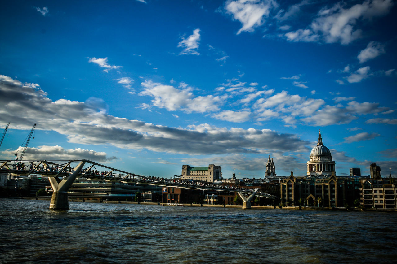 Architecture Bridge - Man Made Structure City Cityscape Cloud - Sky Day Explore Famous Places Landmarks London London Lifestyle LONDON❤ No People Outdoors River Sky St Paul's Cathedral Summer Thames Travel Travel Destinations Travel Photography Urban Skyline Water