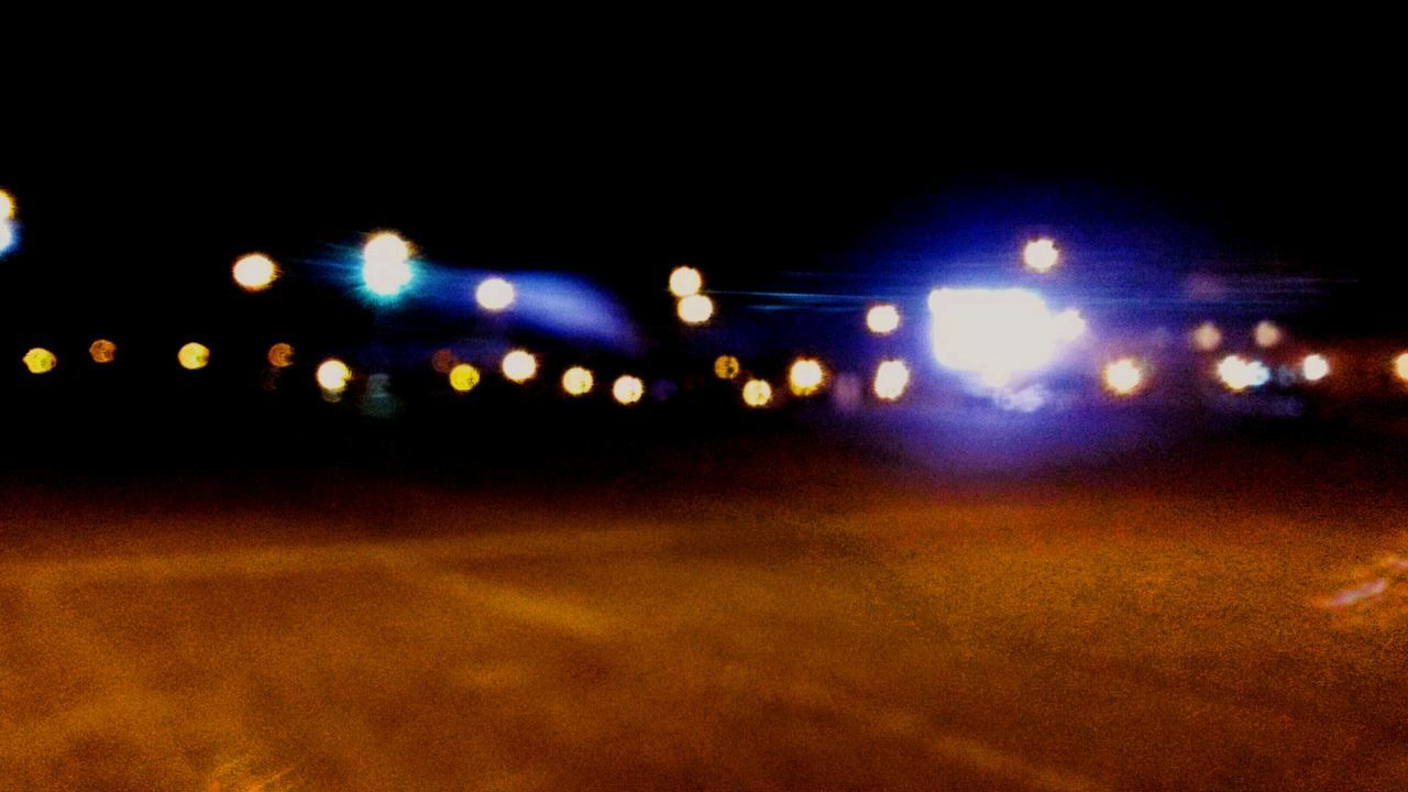 Lights Night Glowing No People Sky City