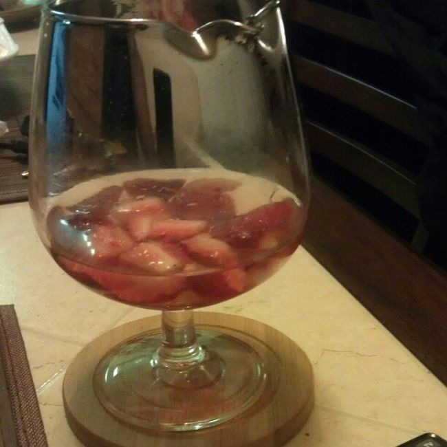 A sweet ending...Strawberries in Moscatto