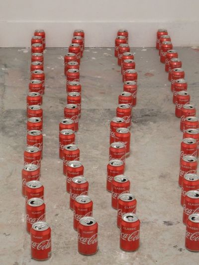 Lines of Coke cans In A Row Red Indoors  Close-up Coke Cocacola Coke Cans Fine Art Art Myartwork Interesting Loveart Photo London