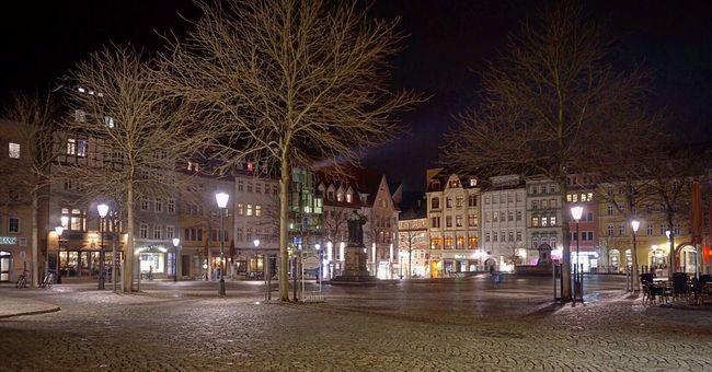 Jena Streetphotography Nightphotography Night Lights Market