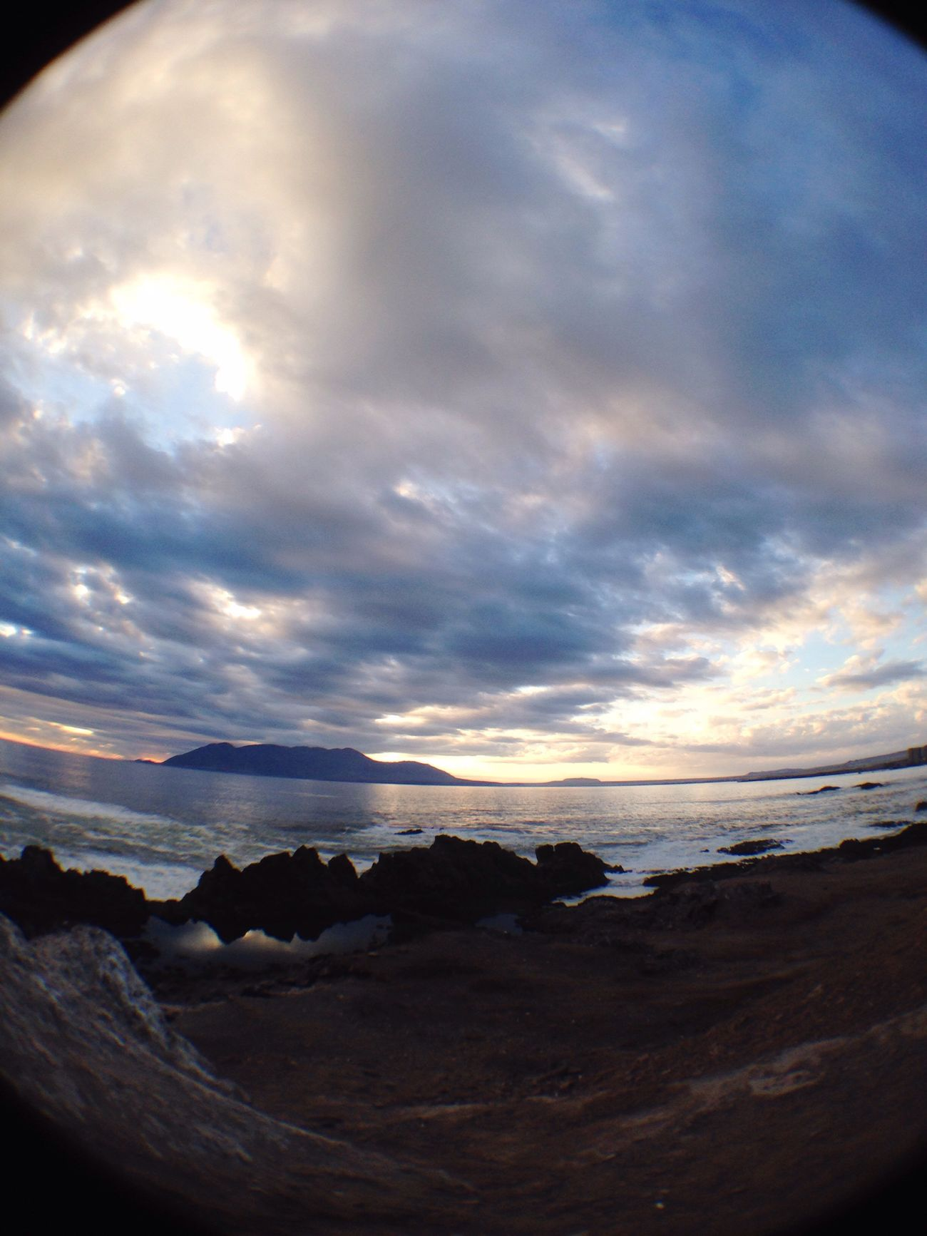 Beauty In Nature Water Beach Nature Scenics Sunset Tranquility Sky Wave Antofagasta Fisheye