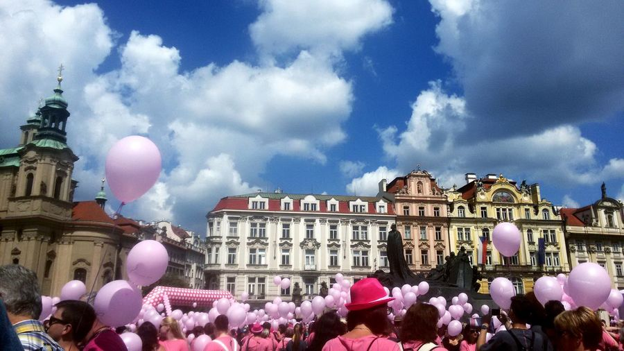 Architecture Building Exterior Dome Built Structure Cloud - Sky Sky Travel Destinations Outdoors Façade Government Pink Color Crowd Politics And Government City Day Human Body Part People Tree City Women Happiness Friendship Adult Avon Prague