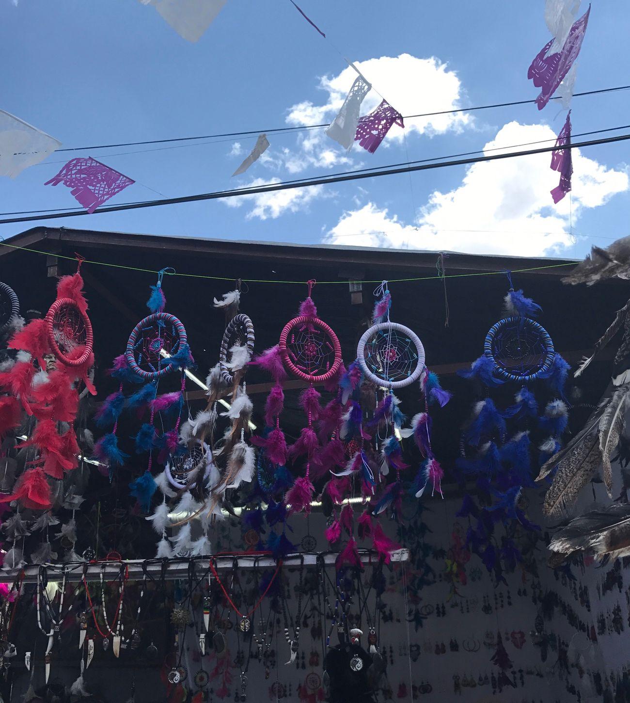 Atrapa sueños Mexican Street Charm Powerful Calles Con Colorido