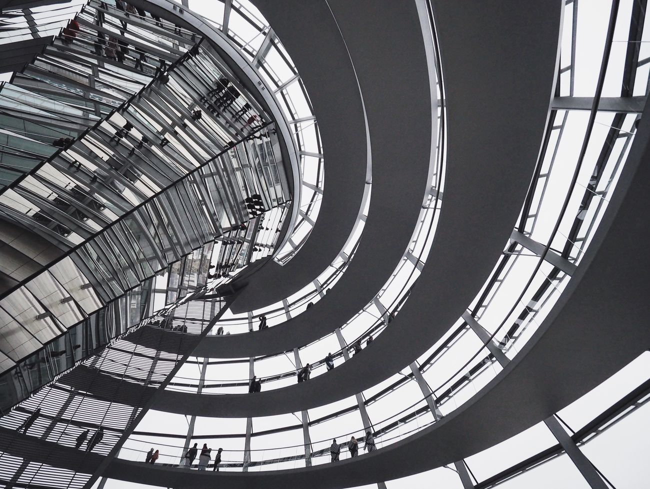 I finally got to see the Reichstag dome Olympus OM-D E-M5 Mk.II Simplicity Minimalobsession Urban Photography Showcase March Architecturelovers Urban Architecture Amazing Architecture Awesome Architecture Architecture_collection Olympus Architecture Berlin Reichstag