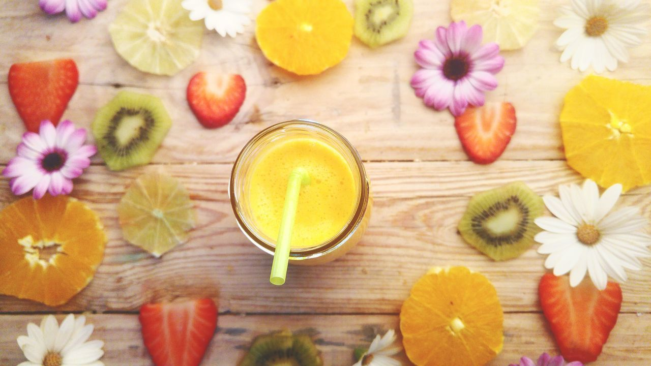 Flower Directly Above High Angle View Healthy Eating Tea - Hot Drink Table No People Flower Head Indoors  Ginger Day Juice Snack Time! Food And Drink Vegetarian Food Veganfood Vegetarianfood Backgrounds Pattern Fruit Orange Dried Fruit