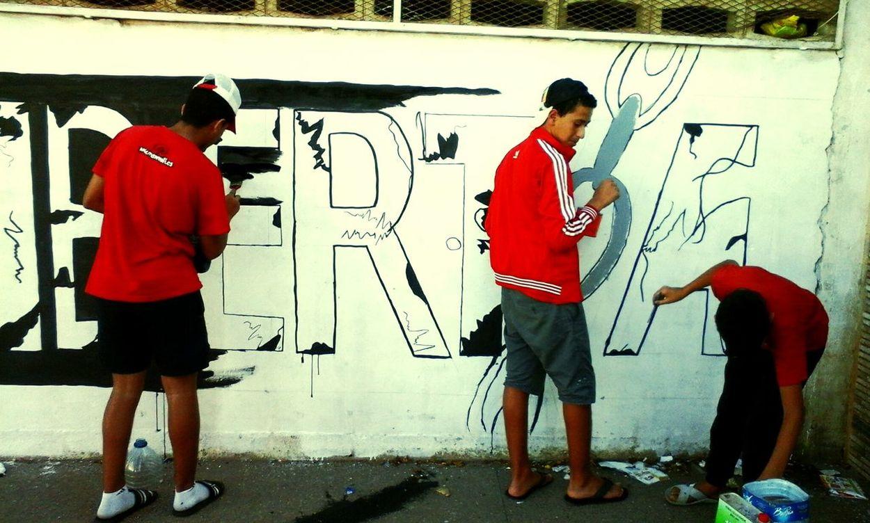 Graffiti Rising Young Agadir Fuckthepolice Street Holigans