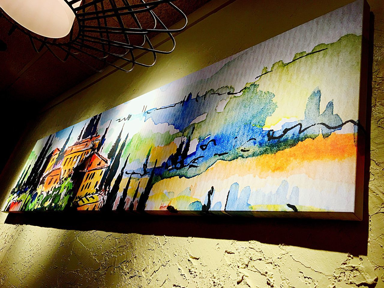 A Painting In Olive Garden Restaurant