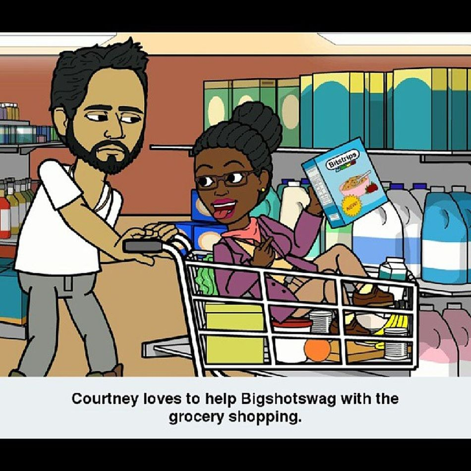 LOL...he does give me that look when we grocery shop GroceryShoppingWithMyBoyfriend Bitstrip Bitsrips