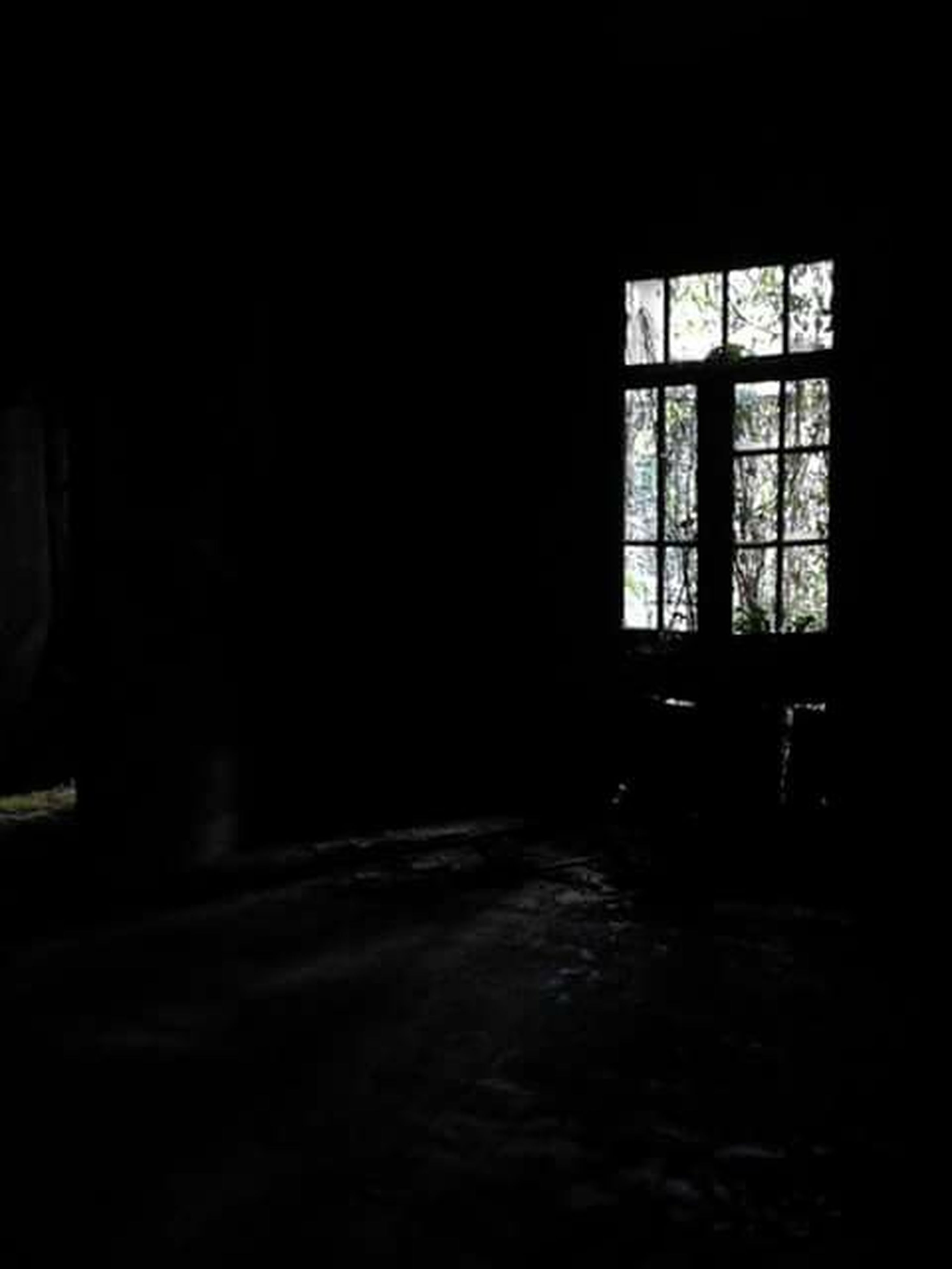 indoors, window, architecture, built structure, dark, empty, house, night, illuminated, door, absence, room, copy space, home interior, no people, shadow, sunlight, entrance, abandoned, building