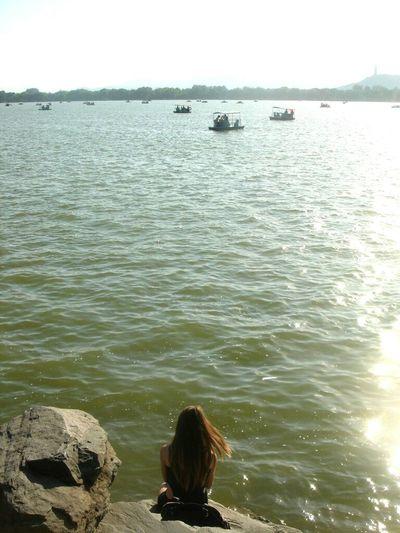 Travelling In Beijing Beijing Pekin ASIA In China Traveling China Lake Lake View That's Me