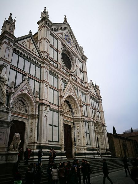 Florence Italy Santa Croce Cathedral Travel Destinations City Tourism Architecture Sky Built Structure Travel Gothic Style Building Exterior No People Cultures Outdoors Day Huawei P9 Plus Neighborhood Map