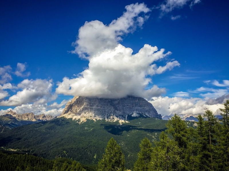Outdoor Photography Clouds And Sky Mountain Pelmo Dolomites, Italy